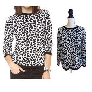 Generation Love Womens Leopard Love Sweater